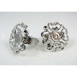 "Ring base ""Flower"" 17 mm, 1 pcs."