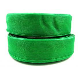 Полоска из органзы, ярко-зеленая, шириной 25 мм