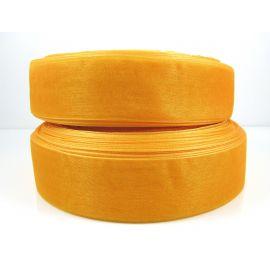Полоска из органзы, оранжевая, шириной 25 мм