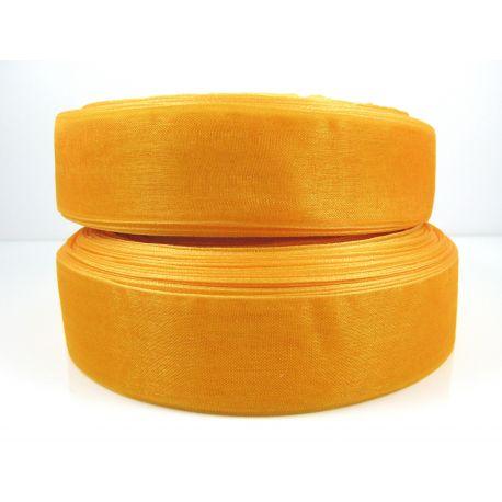 Organza strip, orange, 25 mm wide