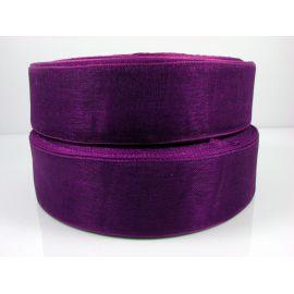 Organzos juostelė, violetinės spalvos, 25 mm pločio