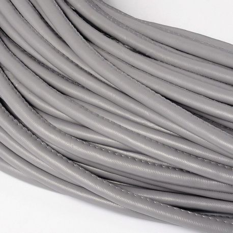 Artificial leather cord, dark gray, thickness app about 5.50 mm