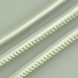 Artificial leather cord, shiny silver color, thickness app about 5.50 mm