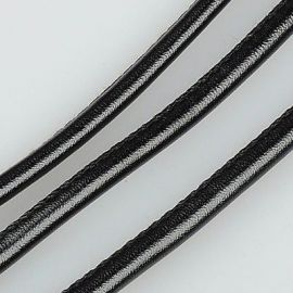 Artificial leather cord 4.00 mm, 1 m