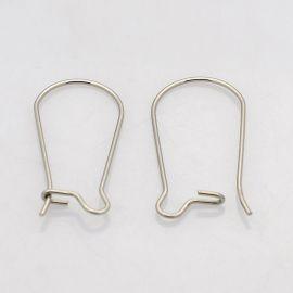 Nerūdijančio plieno kabliukai auskarams 20x10 mm, 4 poros