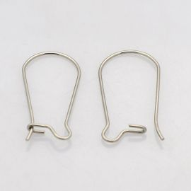 Stainless steel hooks for earrings 20x10 mm, 4 pairs