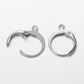 Stainless steel earrings 14x12 mm, 2 pairs