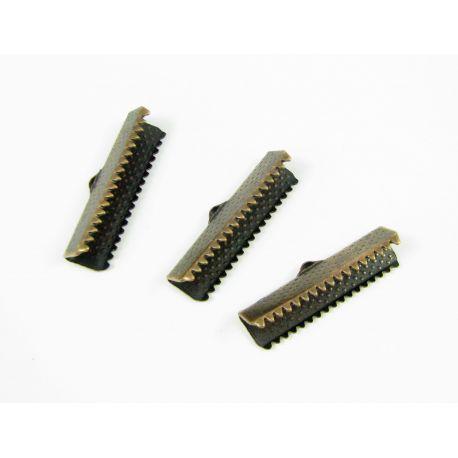 Strip clamp, aged copper, 25x6 mm, 10 pcs