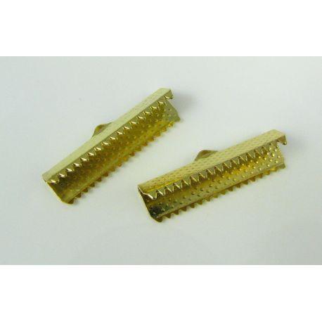 Strip clamp, gold color, 25x6 mm, 1 pcs