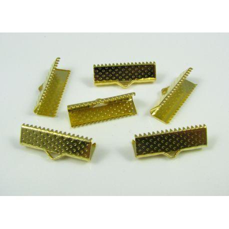 Strip clamp, gold color, 20x6 mm, 1 pcs
