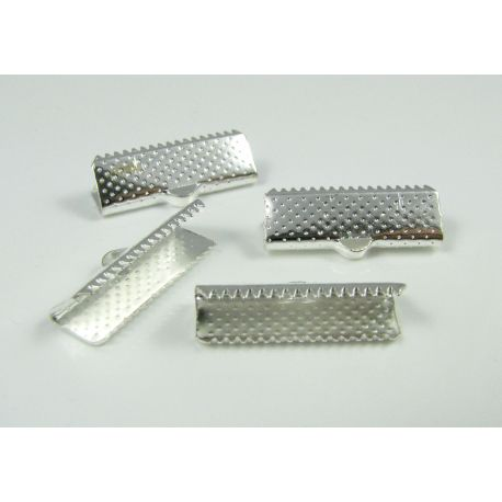 Strip clamp, silver color, 20x6 mm, 10 pcs
