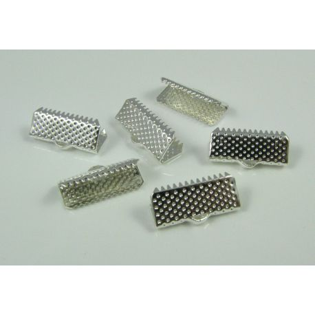 Strip clamp, silver color, 16x6 mm, 10 pcs