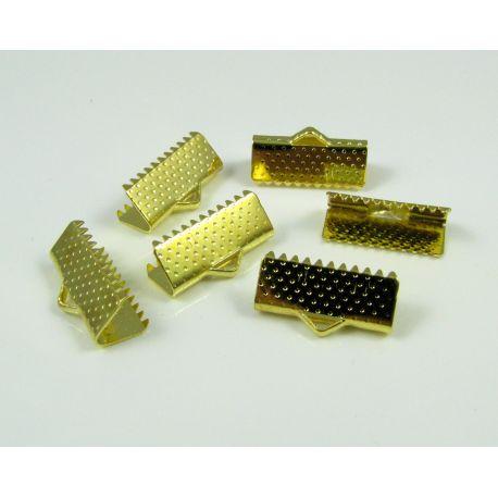 Strip clamp, gold color, 16x6 mm, 10 pcs