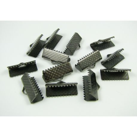 Strip clamp, black, 16x6 mm, 10 pcs