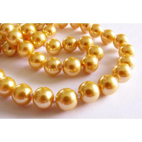 Жемчуг SHELL для золотого ожерелья, круглый браслет 8мм