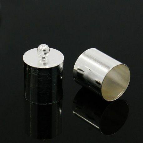 Užbaigimo detalė, sidabro spalvos, 14x10 mm, 10 vnt.