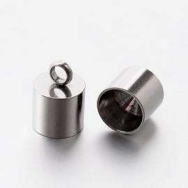 Nerūsējošā tērauda apdares daļa 13x9 mm, 2 gab.