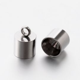 Stainless steel completion part 13x9 mm, 2 pcs.