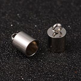 Nerūdijančio plieno užbaigimo detalė 11x7 mm, 4 vnt.