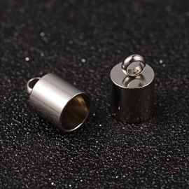 Stainless steel completion part 11x7 mm, 4 units.