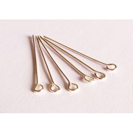Pins silver color with loop 32x0,7x0,7mm