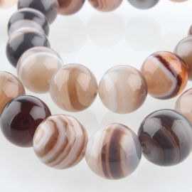 Botswana agate bead thread 12 mm