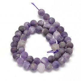 Amethyst beads strand 8 mm