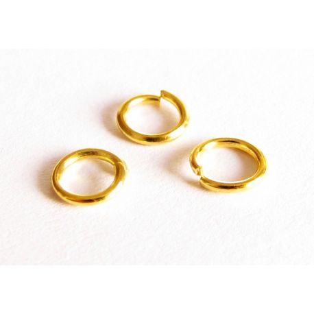 Viengubi žiedeliai skirti papuošalų gamybai aukso spalvos 5 mm