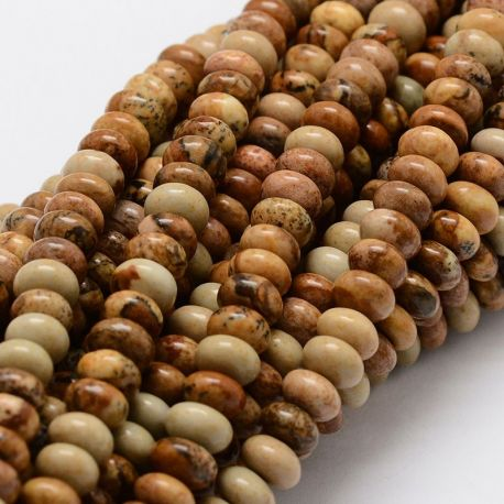 Picture Jaspi thread, brown, rondical shape, 8 mm