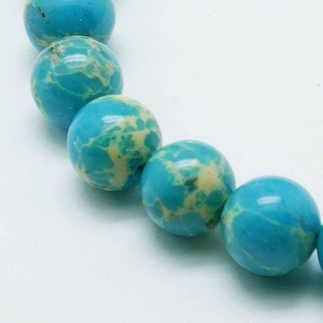 Imperial Jaspio bead thread, azure, 8 mm