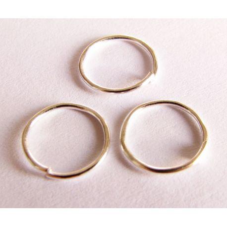 Viengubi žiedeliai skirti papuošalų gamybai sidabro spalvos 5mm