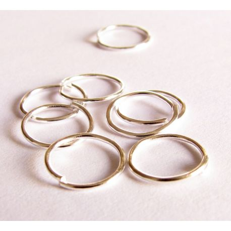 Single rings for the manufacture of jewelry silver color 7 mm