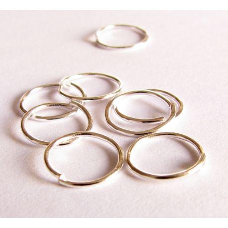 Viengubi žiedeliai skirti papuošalų gamybai sidabro spalvos 7 mm