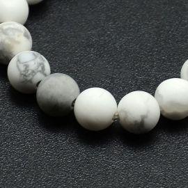Houlite bead thread 8 mm