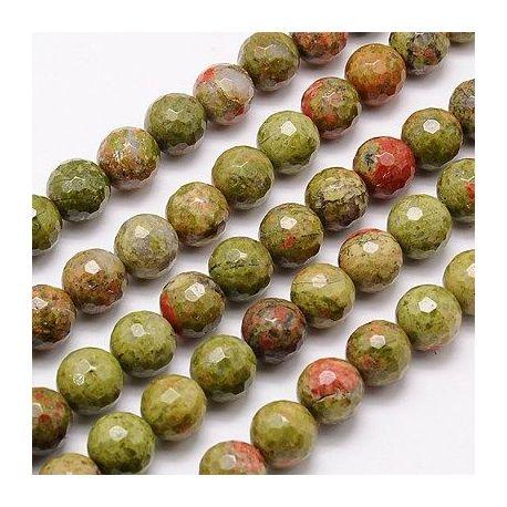 Edged unit bead thread, green-pink, 10 mm