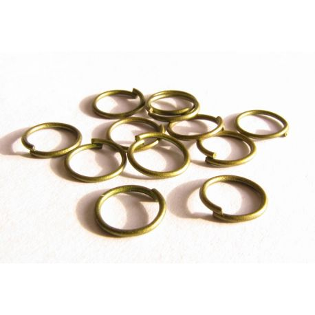 Viengubi žiedeliai sendintos bronzinės spalvos 8mm