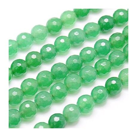 Avantiurin bead thread, green, round shape 10 mm