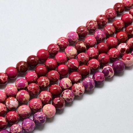 Imperial Jaspio bead thread, pink, 8 mm