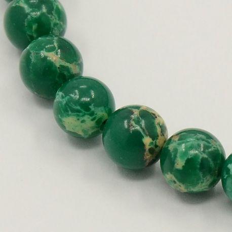 Imperial Jaspio bead thread, green, 8 mm