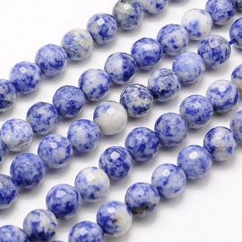 Blue spot stone bead thread 10 mm