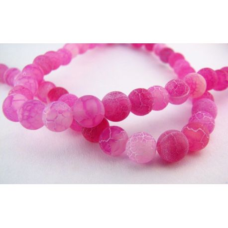 Agate beads purple round shape 6mm