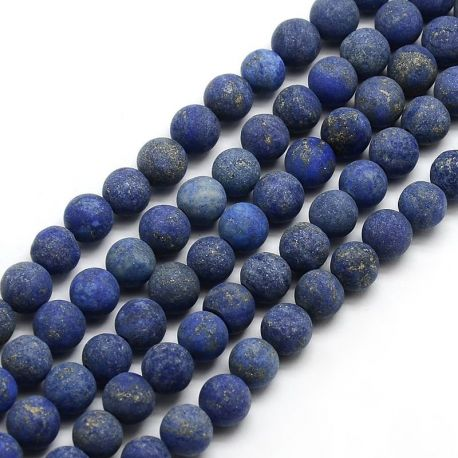 Lapis Lazuli bead thread, blue, round shape 8 mm