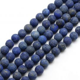Lapis Lazuli bead thread, blue, round shape 6 mm