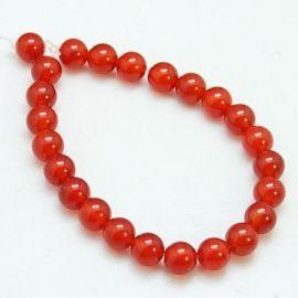 Carnelian beads strand 6 mm