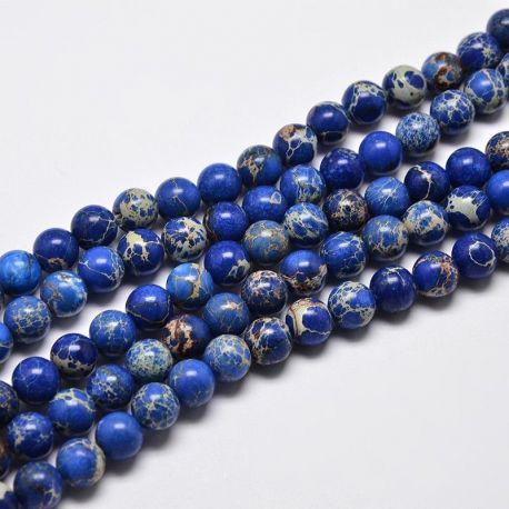 Imperial Jaspio bead thread, blue, 8 mm