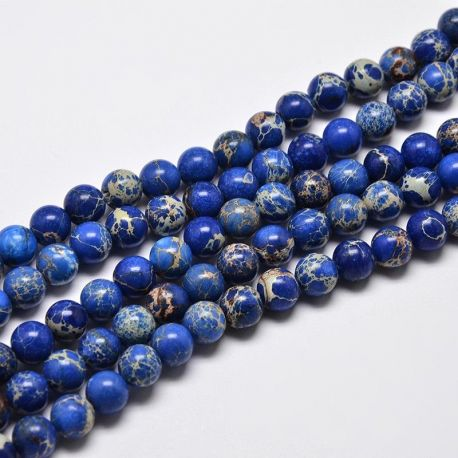 Imperial Jaspio bead thread, blue, 6 mm