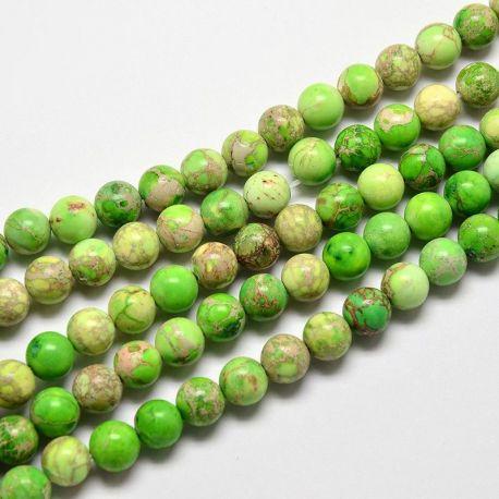 Imperial Jaspio bead thread, salad colors, 6 mm