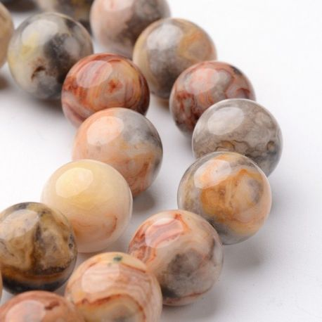 Agate beads, assorted colours, avalical shape 10 mm