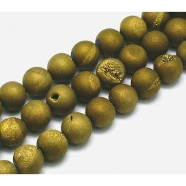 Agato Druzy beads strand 10 mm