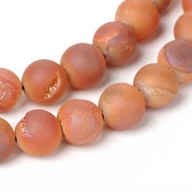 Agato Druzy beads strand 8 mm